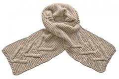 Вязаный шарф бежевый 7053