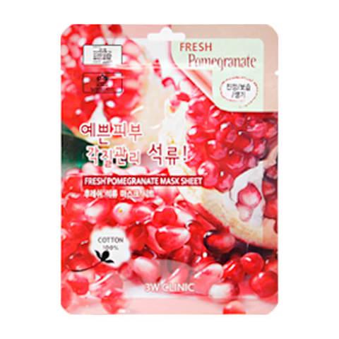 Тканевая маска для лица с гранатом 3W Clinic Fresh Pomegranate Mask Sheet