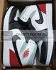 Air Jordan 1 Mid SE 'Red Black Toe' (Фото в живую)