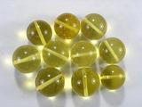 Бусина из янтаря прозрачного, лимонного, шар гладкий 14-15 мм