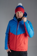 Утеплённая прогулочная лыжная куртка Nordski Montana RUS Blue-Red мужская