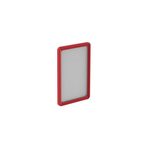 Рамка для ценникодержателей пластиковая А4 красная (10 штук в упаковке, артикул производителя 102004-06)
