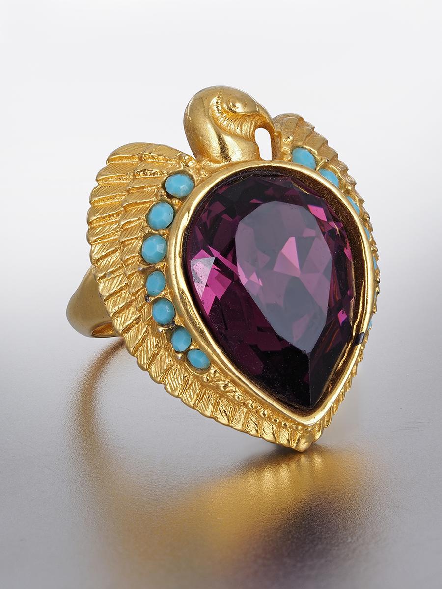 Кольцо «Орел» в египетском стиле Elizabeth Tailor for Avon