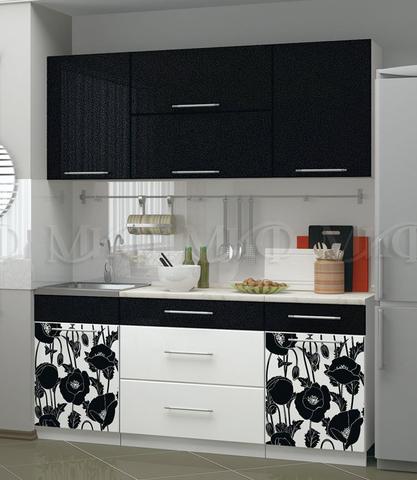 Кухня Маки ( 1,8 м ) черные