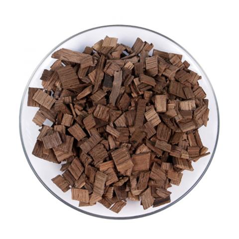 Щепа дубовая (чипсы) 200 г. сильный обжиг