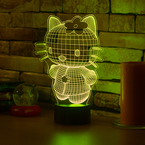 3D ночник Hello Kitty 3D
