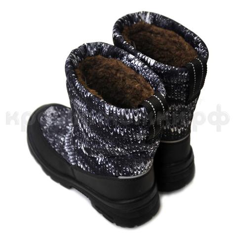 Сапоги зима Nordman Lumi  черно-белые (ТРК ГагаринПарк)