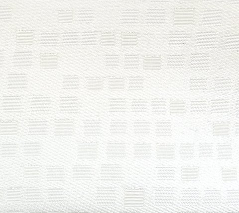 Портьерная ткань двухсторонний жаккард Домино белый