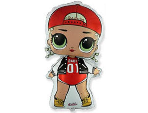Фольгированный шар Кукла LOL MC SWAG