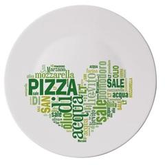Блюдо для пиццы 33см Bormioli Rocco I Love Pizza Green