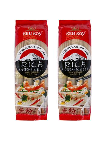 Лапша рисовая RICE VERMICELLI Sen Soy Premium 2 штуки по 300 грамм 1кор*1бл*2шт