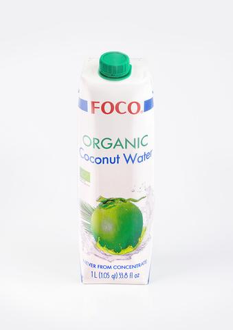 Вода кокосовая органическая Foco, 1л