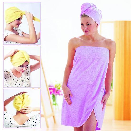 Для девочек и девушек Полотенце Magic Hair - drying Cap полотенце_шапка.jpg