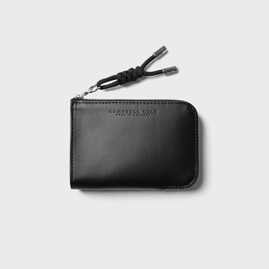 Campbell Cole Simple Zip Corner Wallet Black