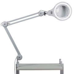 Лампа-лупа диодная на струбцине