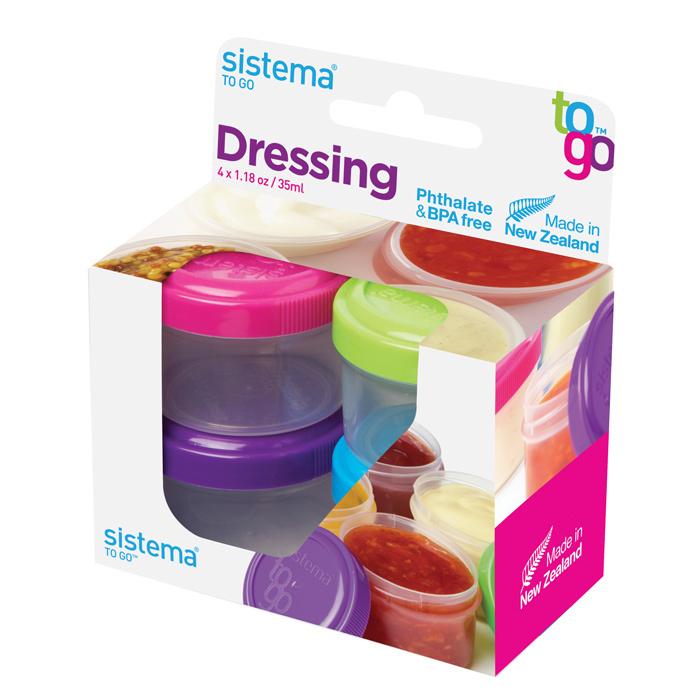 """Набор контейнеров для заправки Sistema """"TO GO"""" 35 мл, 4шт."""