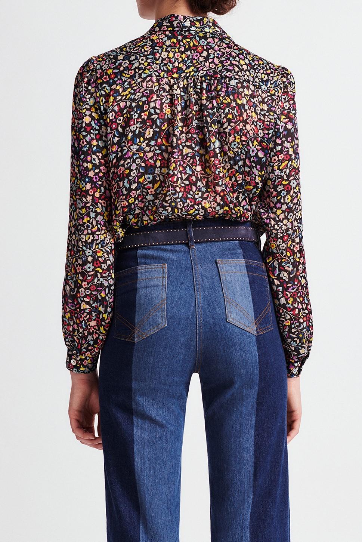NILVA - Рубашка с цветочным принтом свободного кроя