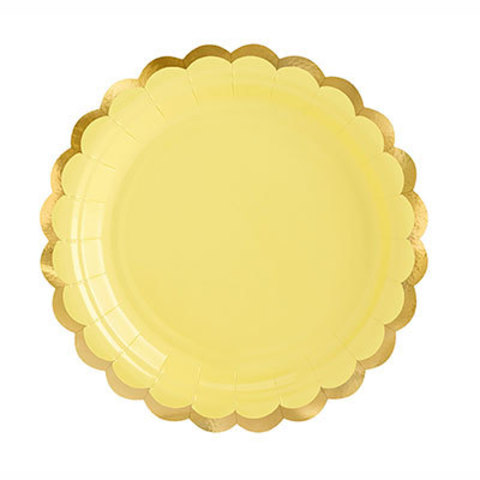 Тарелки малые светло-желтые, 6 штук