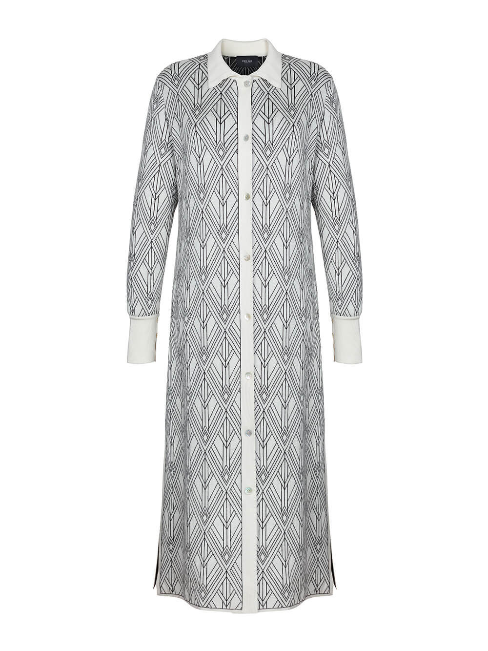 Женское платье молочного цвета из шелка и кашемира - фото 1