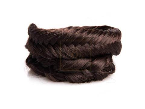 Накладная коса из натуральных волос оттенок  горький шоколад