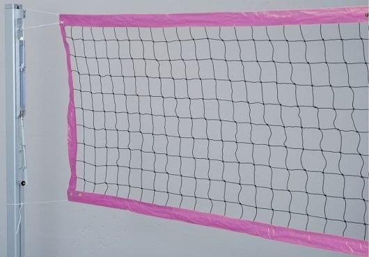 Сетка для пляжного волейбола красного цвета
