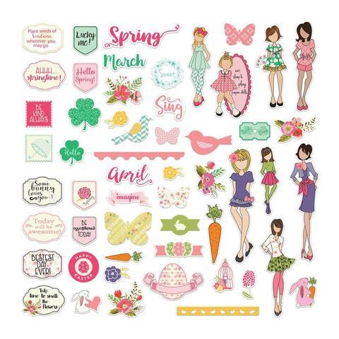 Высечки  My Prima Planner Ephemera-March & April -108шт