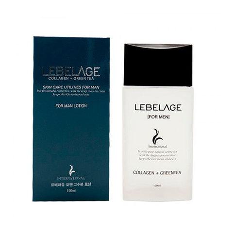Лосьон для мужчин увлажняющий с коллагеном и зеленым чаем Lebelage Collagen+Green Tea Skincare Utilites For Men Lotion 150мл