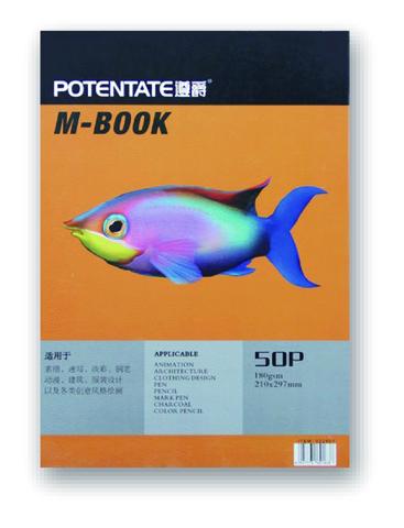 Альбом Potentate Bristol Pad, 50 листов, 260 x 190 mm, бумага 180 г/м