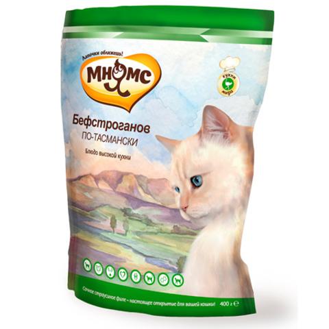 МНЯМС Сухой корм для взрослых кошек с сочным страусиным филе