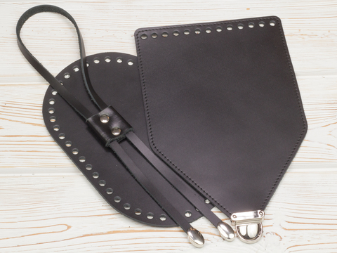 Комплект для рюкзака прошитый черный