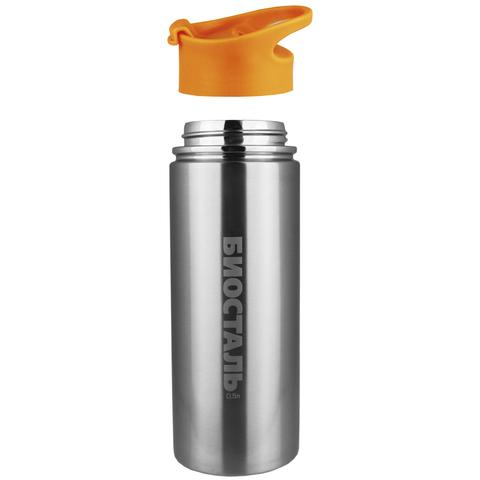Термос Biostal Спорт (0,5 литра), стальной/оранжевый