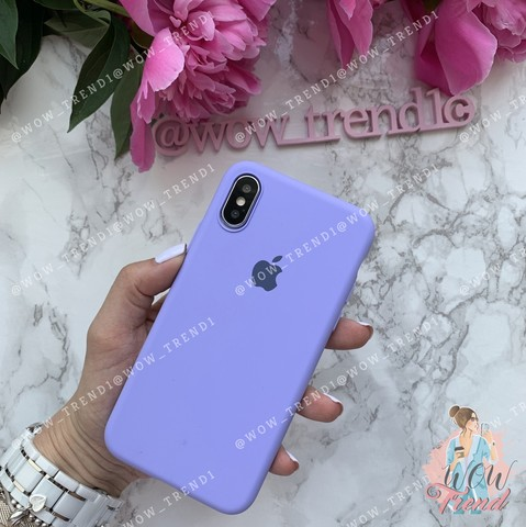 Чехол iPhone XS Max Silicone Slim Case /glycine/