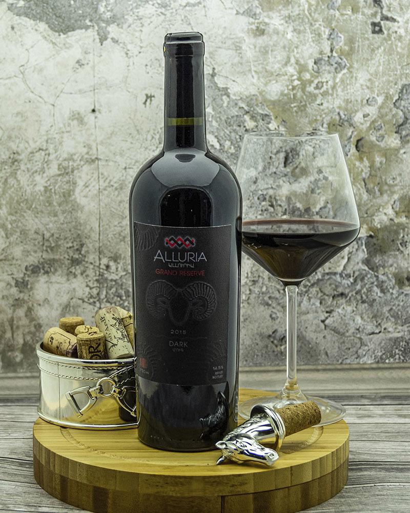 Вино Alluria Гранд Резервное Красное Сухое 2015 г.у. 14,5%, 0,75 л.