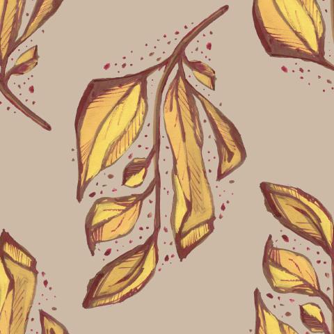 Природный орнамент с листьями