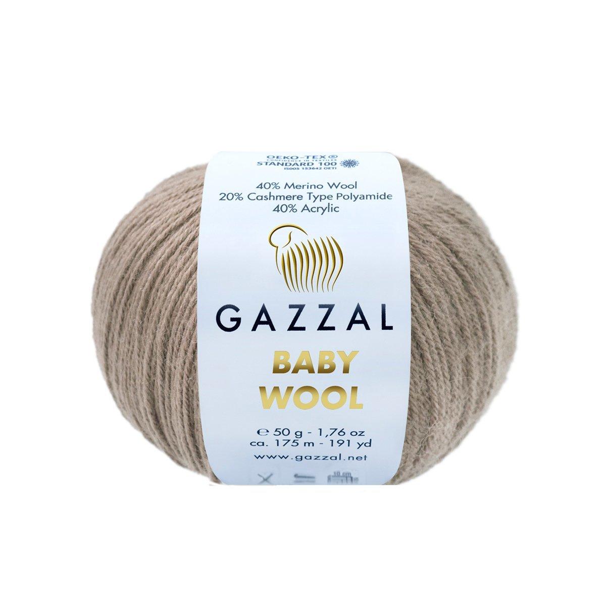 Пряжа Gazzal Baby Wool 835 мокко