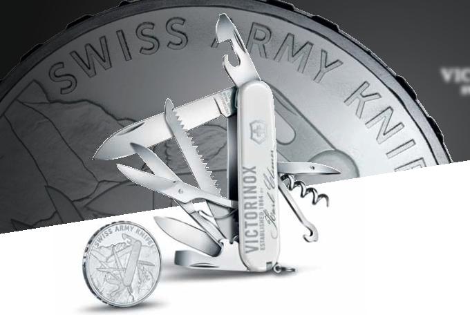 Лимитированный набор Karl Elsener Commemorative Coin Set 2018 (1.3714.E6) - Нож Victorinox Huntsman и экслизивная монета 20 франков - Wenger-Victorinox.Ru