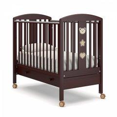 Кровать детская Дени люкс с ящиком махагон