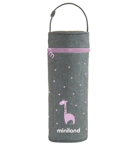Miniland Silky Термо-сумка для бутылочек, розовый, 350 мл