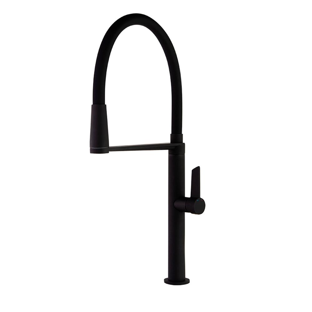 Смеситель для кухни с магнитным клапаном и гибким шлангом KITCHEN MAGNET 388801MCNM черный