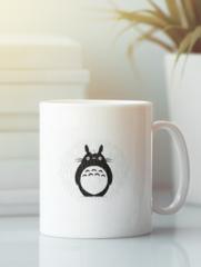 Кружка с рисунком из мультфильма Мой сосед Тоторо (Totoro) белая 005