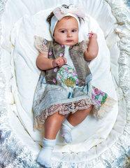Папитто. Платье с песочной жилеткой FASHION JEANS вид 2