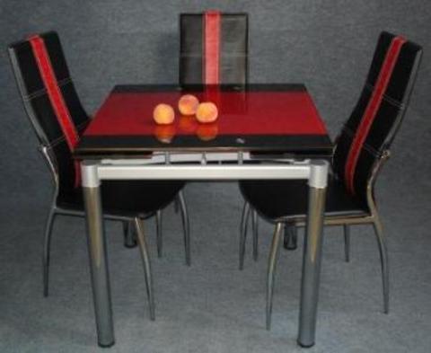 Стол со стеклянный столешницей раздвижной В179-8 трансформер