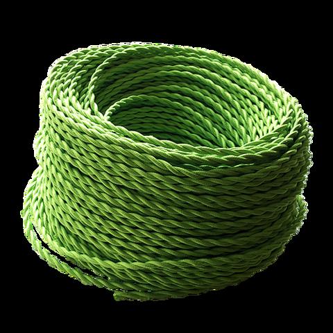 Витой ретро провод (Зеленый)