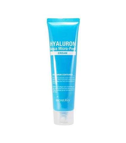 Secret Key Hyaluron Aqua Micro-Peel Cream гиалуроновый крем с микропилингом