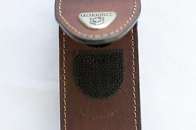 Чехол для широких складных ножей Victorinox 85 и 91 мм. (4.0545) коричневая кожа - Wenger-Victorinox.Ru