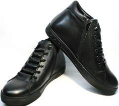 Модные мужские ботинки без шнурков зимние Rifellini Rovigo C8208 Black