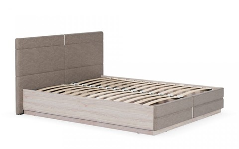 Кровать двойная Элен Моби 140x200 ясень шимо светлый/саванна латте