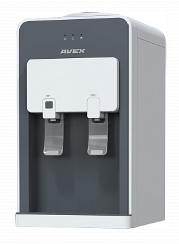 Кулер Avex DK-20W настольный компрессорный белый/серый