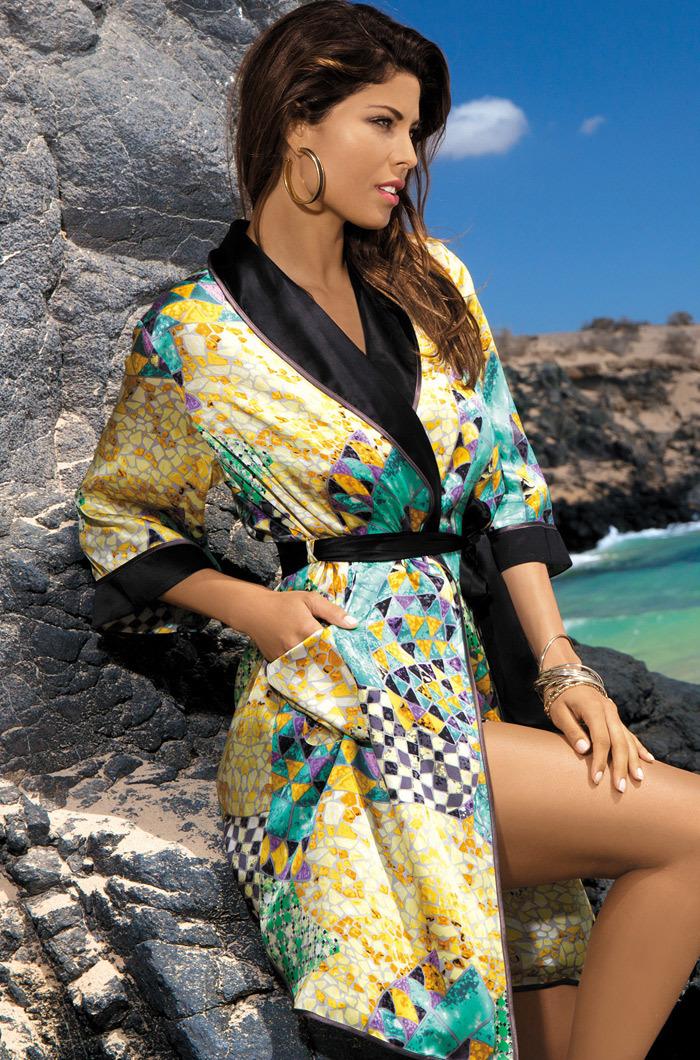 Шелковые халаты Халат женский натуральный шелк MIA-MIA   Barcelona Барселона 15047 15047_big.jpg