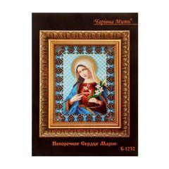 """Набор для вышивания бисером """"Икона: непорочное сердце Марии"""""""